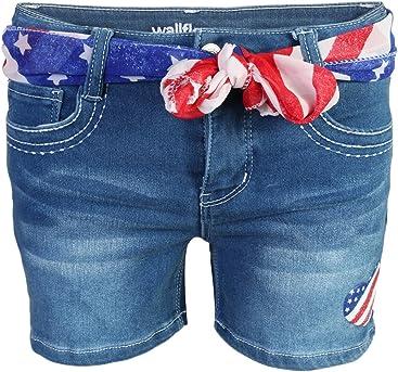 5914859e5f9 WallFlower Girls Soft Strech Denim Shorts