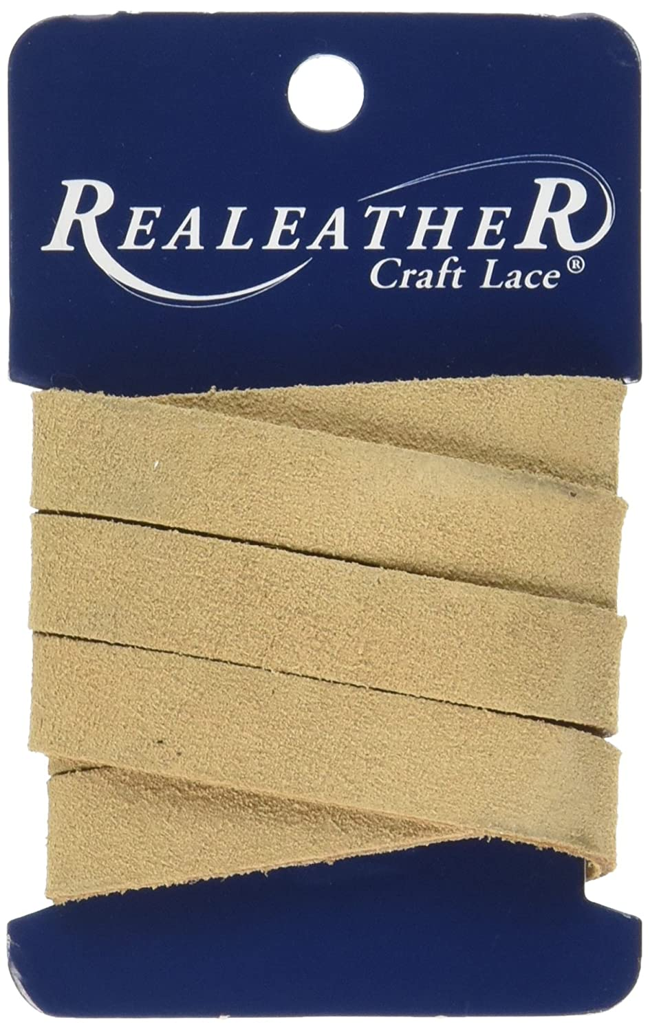 Realeather Crafts Suede Strip, 0.5 by 36, Beige by Realeather Crafts B011Q1OR00