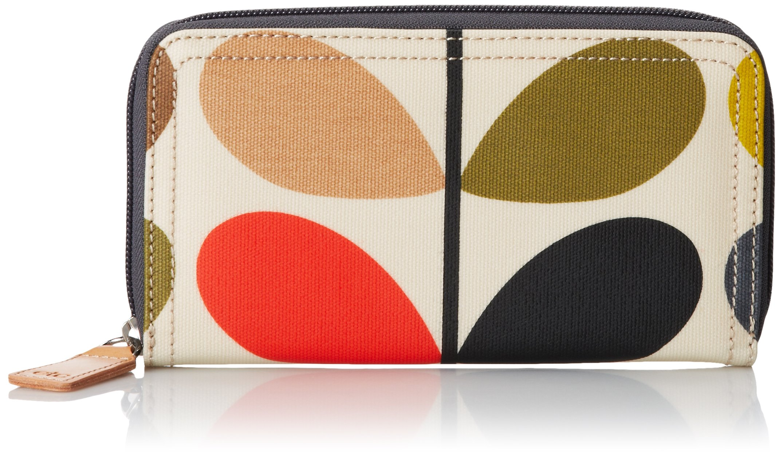 Orla Kiely Multi Stem Big Zip Wallet, Multi, One Size