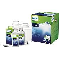Philips Onderhoudsset voor Philips Espressomachine - Totale beschermingsset - 2 Ontkalkers - 2 Waterfilters - 6 Olieverwijderaar en smeermiddel - Verlengt de levensduur van de machine - CA6706/10