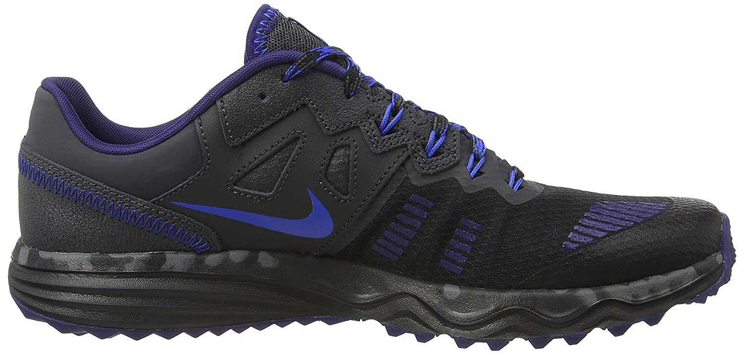 watch eb7f1 1e8eb Amazon.com   NIKE Men s Dual Fusion Trail 2 Running Shoe (8 D(M) US,  Black Hyper Cobalt Anthracite Loyal Blue)   Trail Running