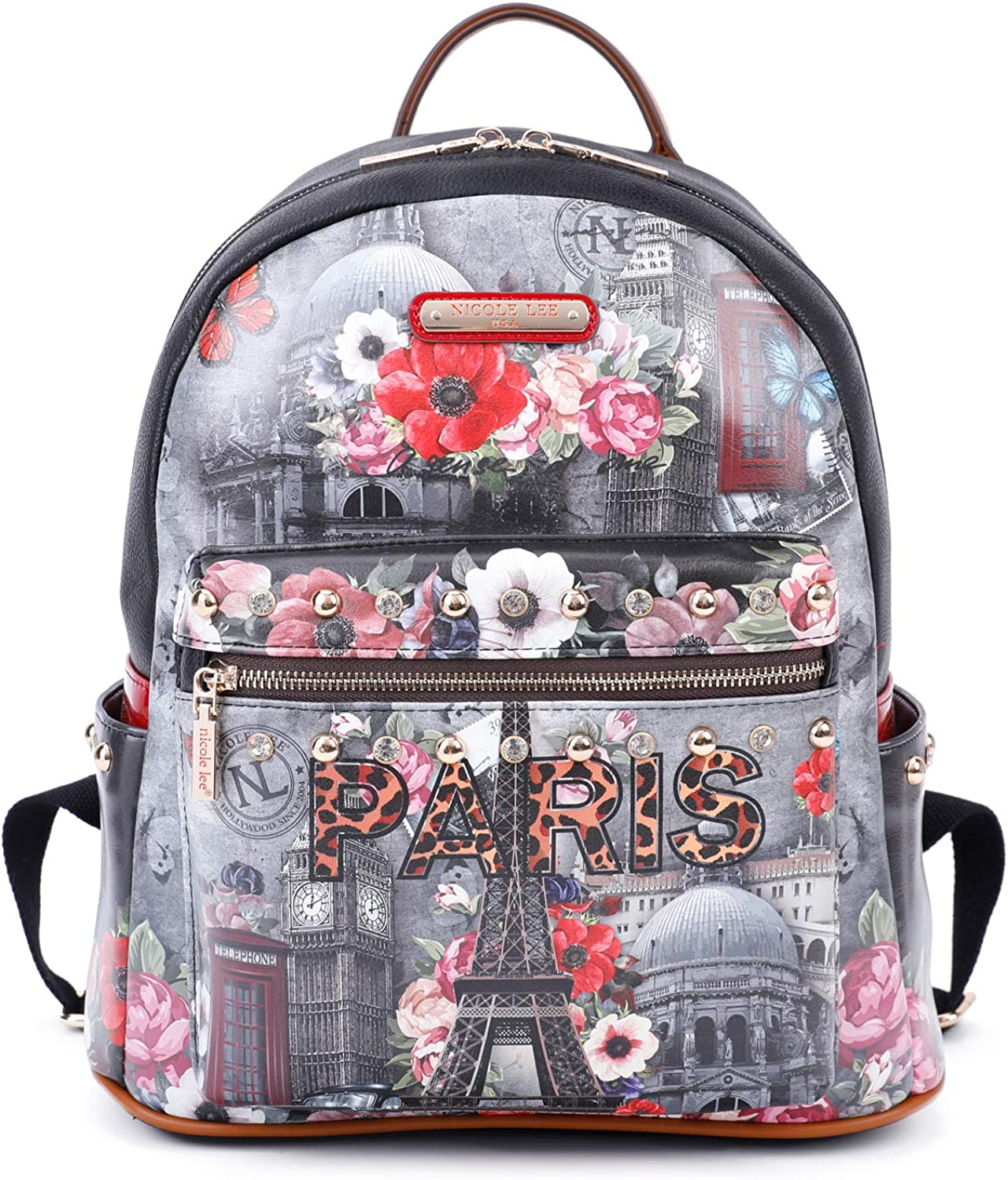 Women's Spacious Colorful Print Fashion Backpack