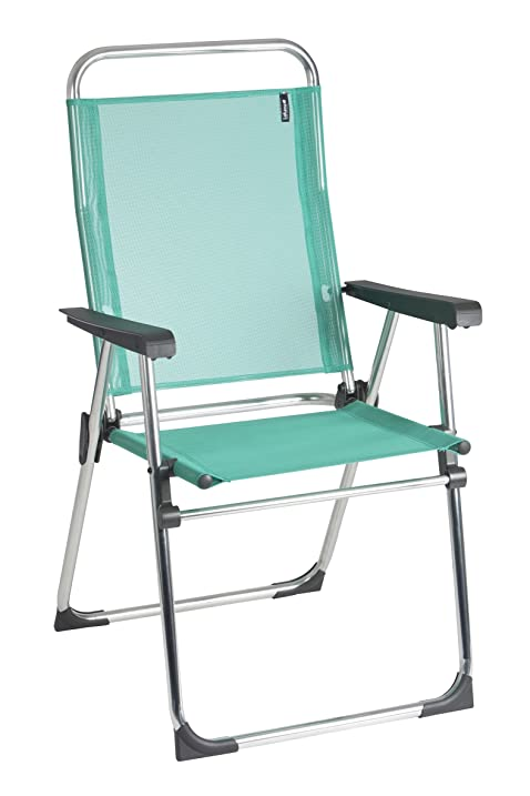 Lafuma Victoria Aluminum Folding Chair   Alu Brut Aluminum Frame With  Emeraude Batyline Fabric   Set