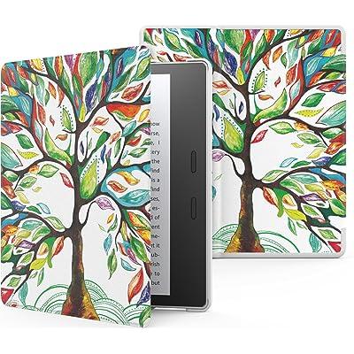MoKo Funda Compatible con Kindle Oasis 9th Generation 2017 y Kindle Oasis 10th Generation 2019 Release - Ultra Delgada Ligera Smart-Shell Soporte Cover Case - Árbol de Suerte