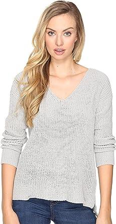 BB Dakota Women s Zona Soft V-Neck Sweater Grey Sweater at Amazon ... 164f7fcbe