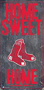 Fan Creations MLB Boston Red Sox Unisex Boston Red Sox Home Sweet Home Sign, Team Color, 6 x 12