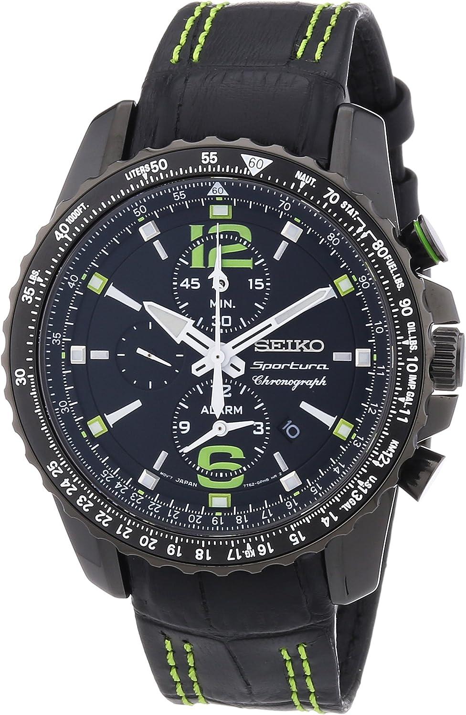 Seiko Reloj Cronógrafo de Cuarzo para Hombre con Correa de Piel – SNAE97P1