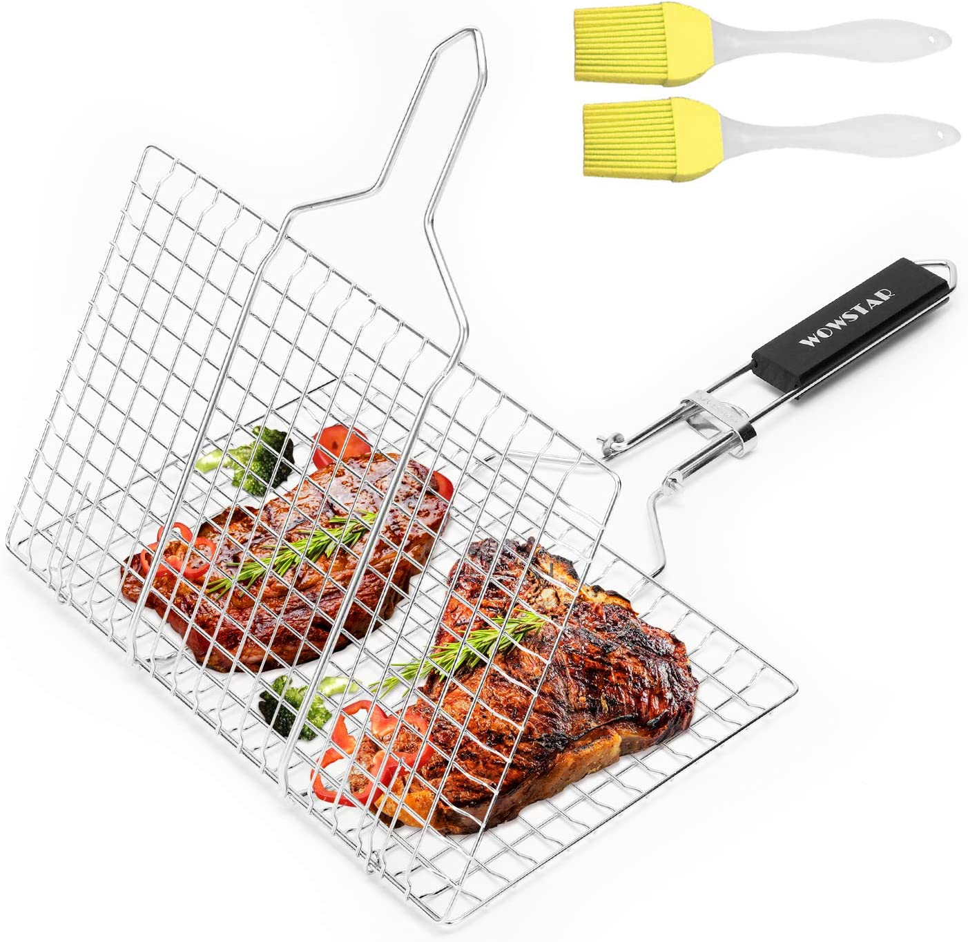 Florabest/® carbon stainless steel basket for indirect grilling.