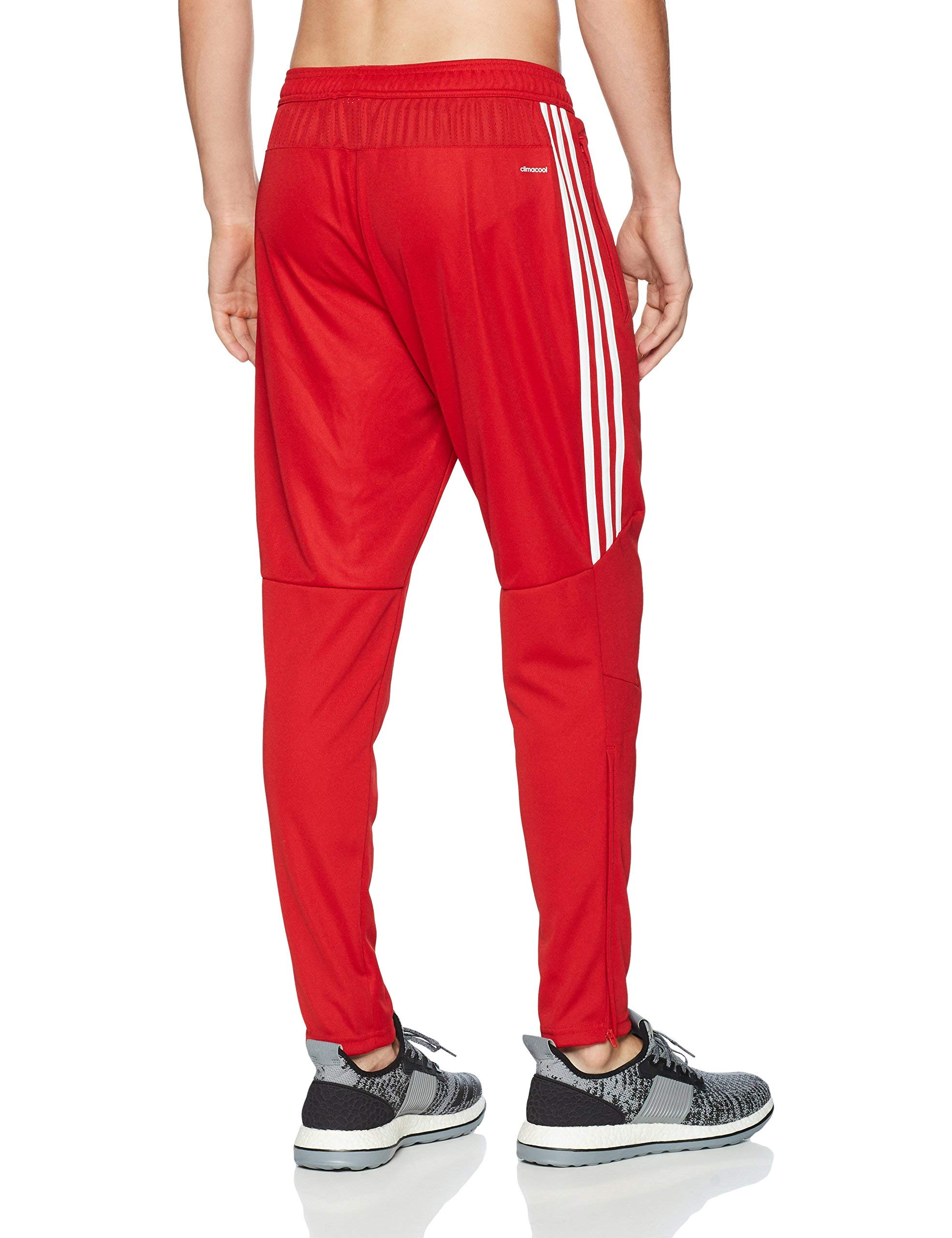 adidas Men's Soccer Tiro 17 Pants, Small, Power Red/White by adidas (Image #2)