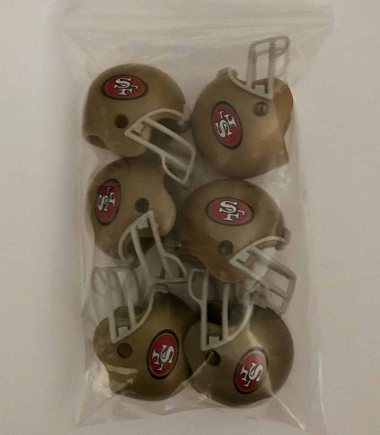 Collectible Gumball Vending Toy New in Bag Pencil Cap. NFL 6 Pack Los Angeles Chargers 2017 Helmet Mini Football 2 Inch Helmets Complete Team Logo Cake Toppers Party Favors