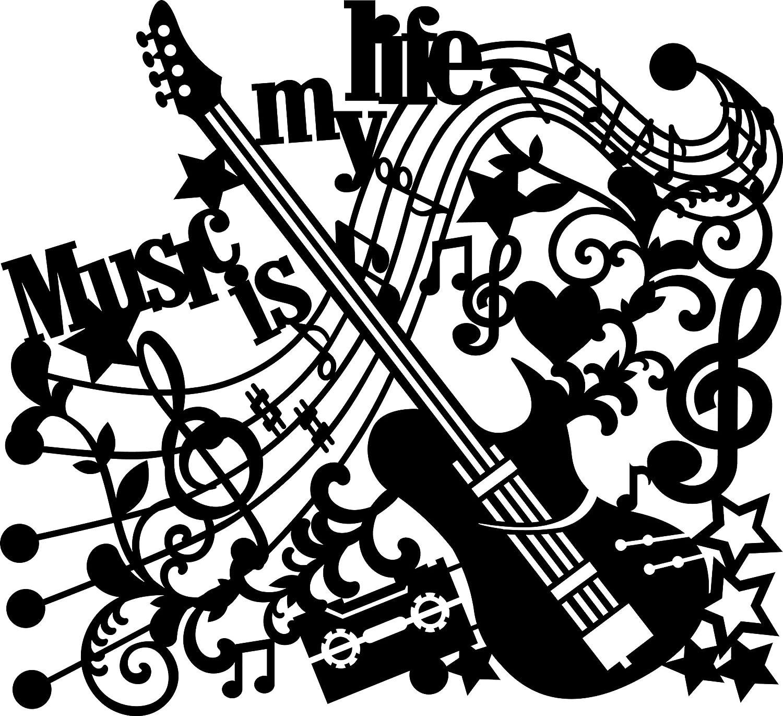 Marabu 30 x 30 cm Stencil Music Is My Life