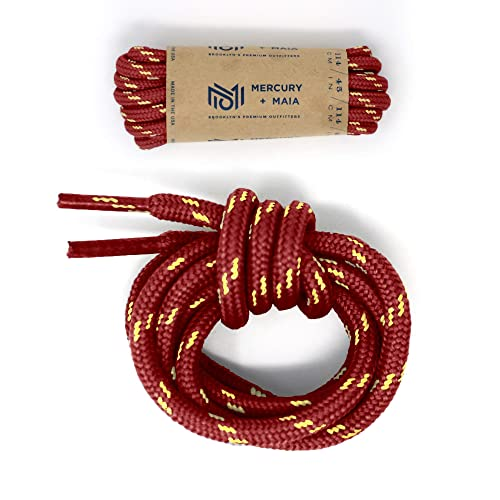 c89d083331aa8 Mercury + Maia Honey Badger Work Boot Laces Heavy Duty with Kevlar - USA  Made (Maroon and Natural)