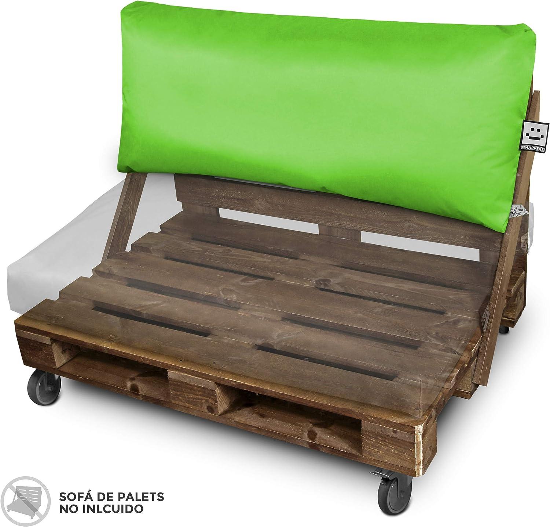 HAPPERS Cojín Impermeable y Desenfundable para Palets en Naylim Verde 120x43: Amazon.es: Jardín