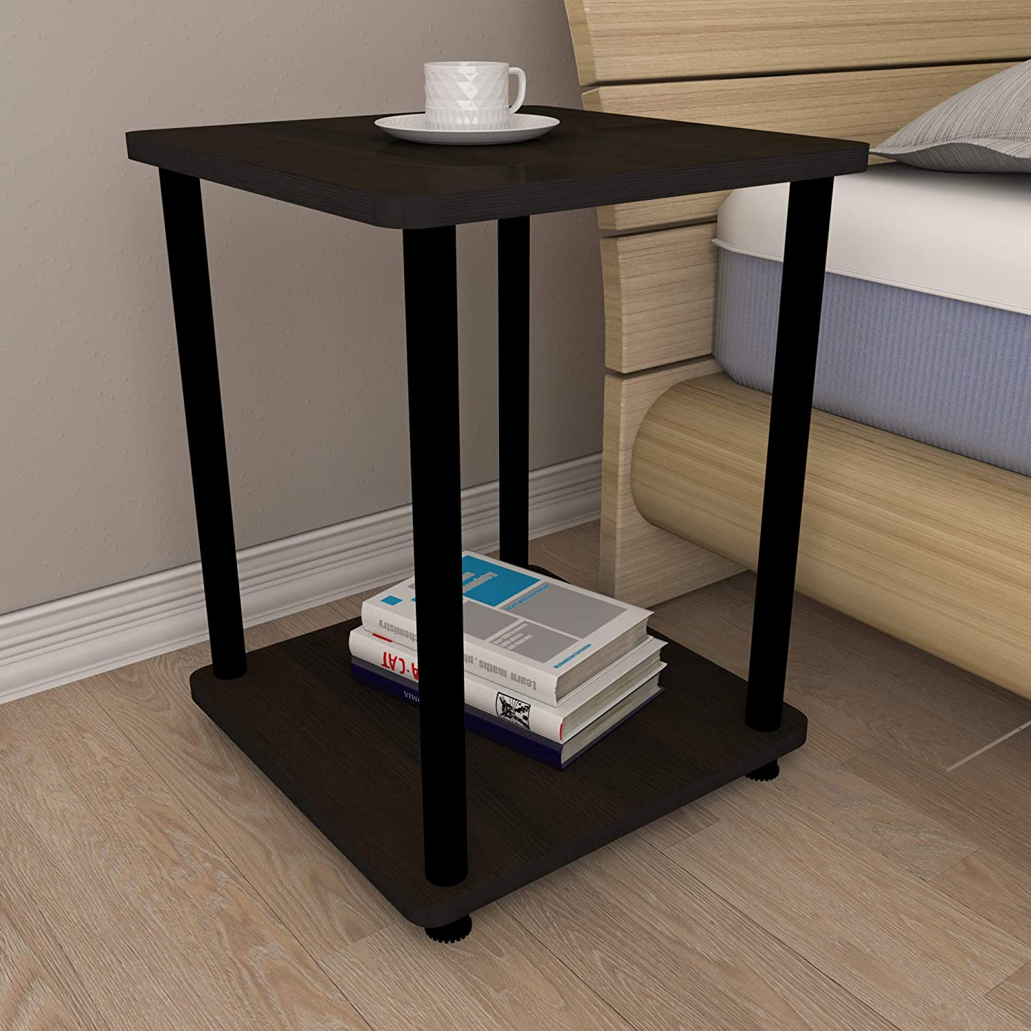 Townsville Ziggy Bed Side Table Matte Finish Cappuccino Oak Amazon In Home Kitchen