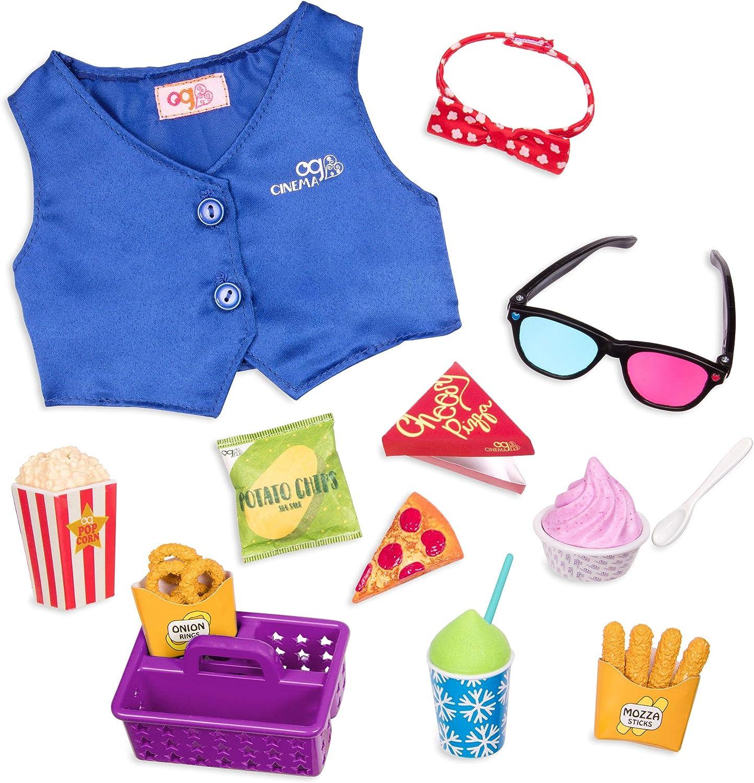 Our Generation- Accesorios Cine Battat BD37848Z Palomitas Color