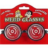 1 x Nerd Geek Unisex Fancy Dress Novelty Glasses