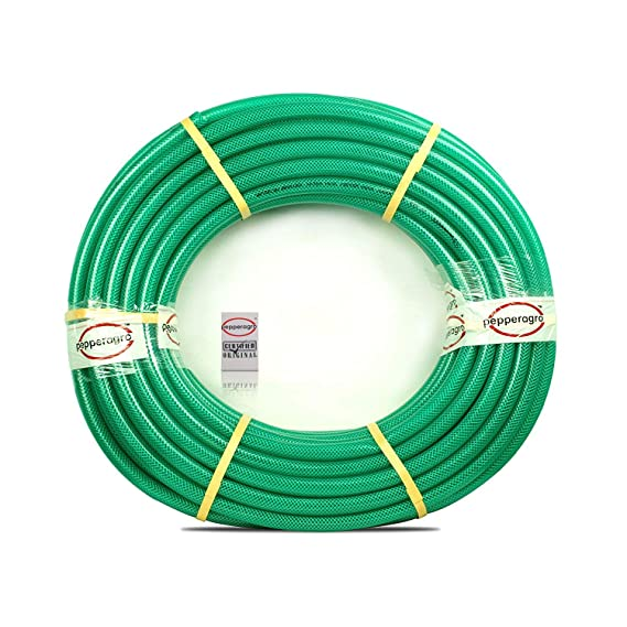 Pepper Agro GHG1033B 3/4-Inch Diameter Braided Heavy Duty Hose, 15 Meters (Green) Hose Nozzles at amazon