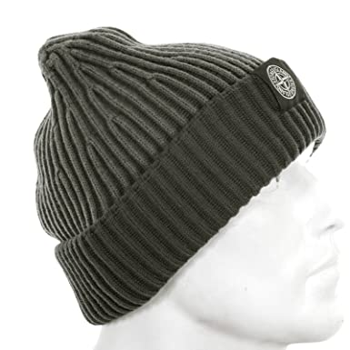 c9a03cceb7f ... 100% authentic d76ad 3e320 Stone Island mens grey rib knit 5915N09C6 beanie  hat SI3015 ...