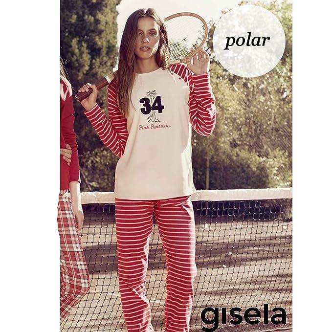 GISELA - Pijama Mujer Pantera Rosa Mujer Color: Rayas Talla: Large