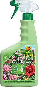 Compo Duaxo Fungicida Rosales, Spray 2 en 1 preventivo y curativo, Apto para jardinería Exterior doméstica, 26x11x5 cm: Amazon.es: Jardín