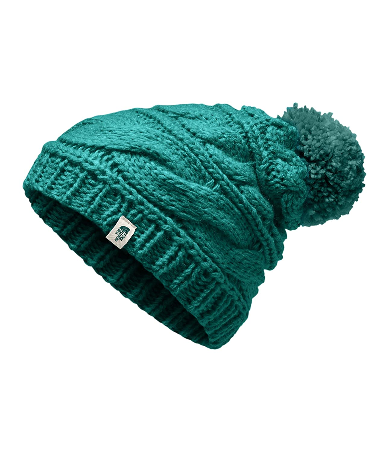 The North Face Women s Triple Cable Beanie - Everglade - OS at Amazon  Women s Clothing store  359bf386975