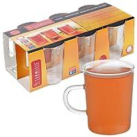 6 termisil bardak kupa, sıcak soğuk içecekler servis cam ürünler kahve çay şeffaf stil