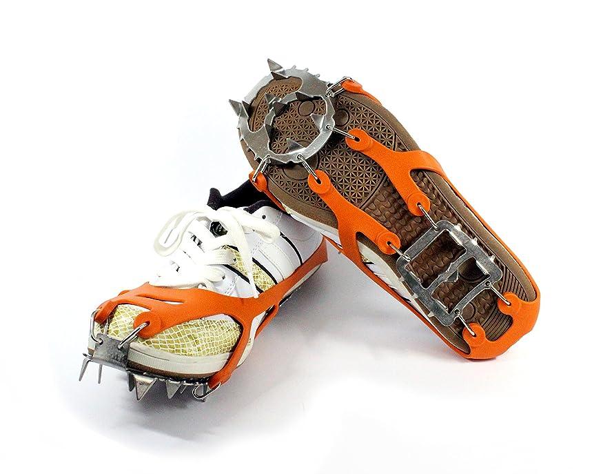 腐敗したはい振動する10本爪 アイゼン 日常生活 S/M/L/XL四サイズ スノー アイス マジックテープ 靴用ゴム底 安全歩行靴 収納袋付きsongwinTM
