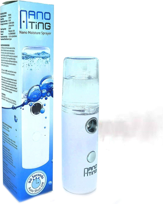 NanoTing Mini Mister - Pulverizador facial portátil - Desinfectante automático recargable - Nano Mist difusor desinfectante pulverizador - Nano Rocío facial - Nano Mister - Tamaño de bolsillo Mister