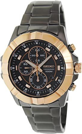 Men s SNDD78 Lord Stainless Steel Case and Bracelet Black Dial Chronograph  Watch 386488a0c8e