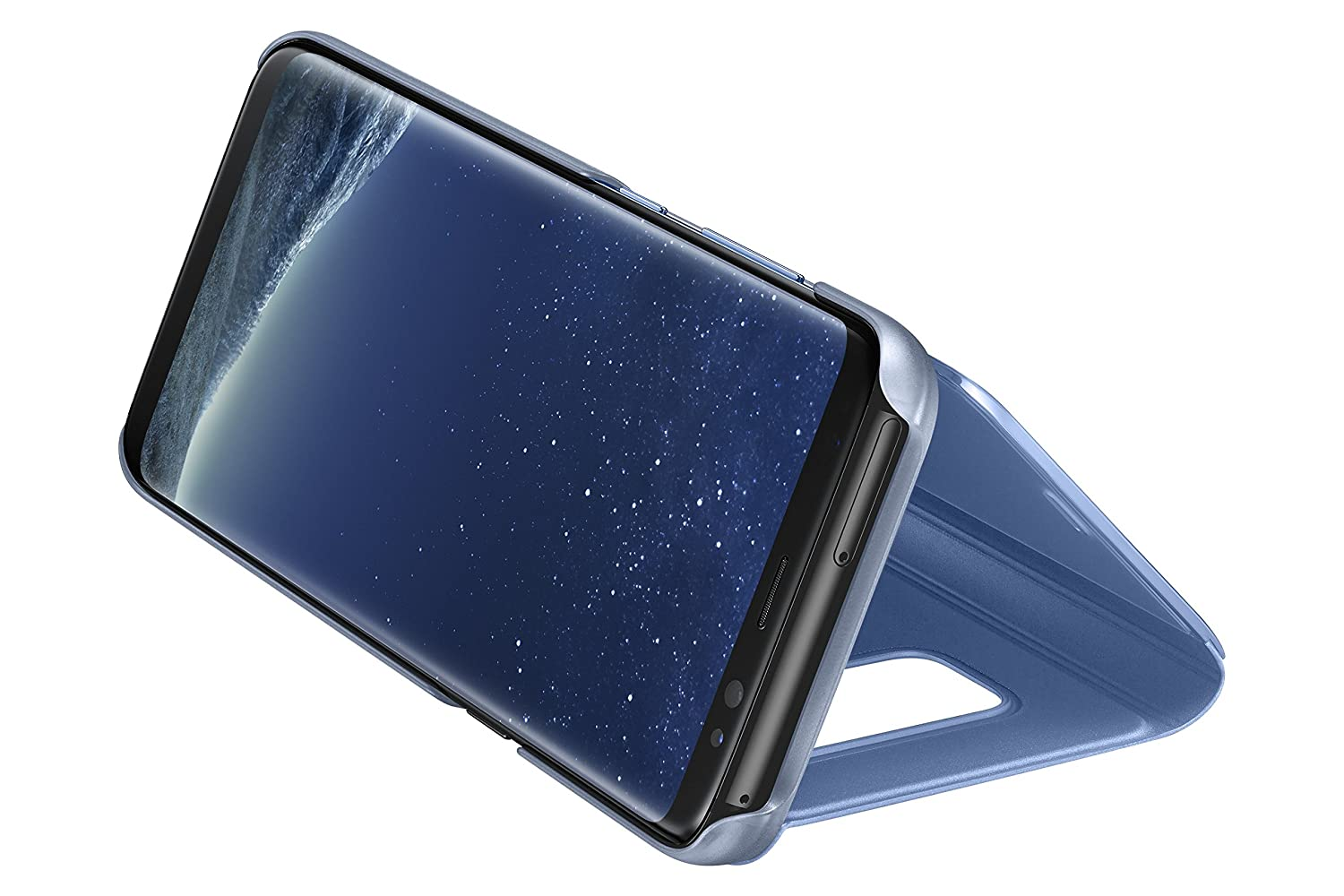 online retailer 0c5a2 d79a1 Samsung Original Clear View Cover Case and Stand for Galaxy S8 - Gloss Blue