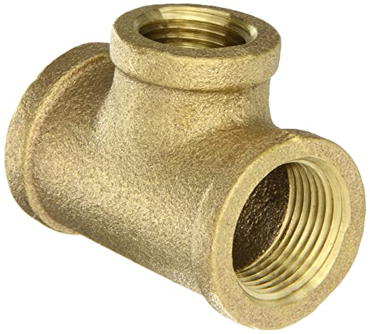 Anderson Metals 38102 Red Brass Pipe Fitting Cross 1-1//4 Female Pipe 1-1//4 Female Pipe 38102-20