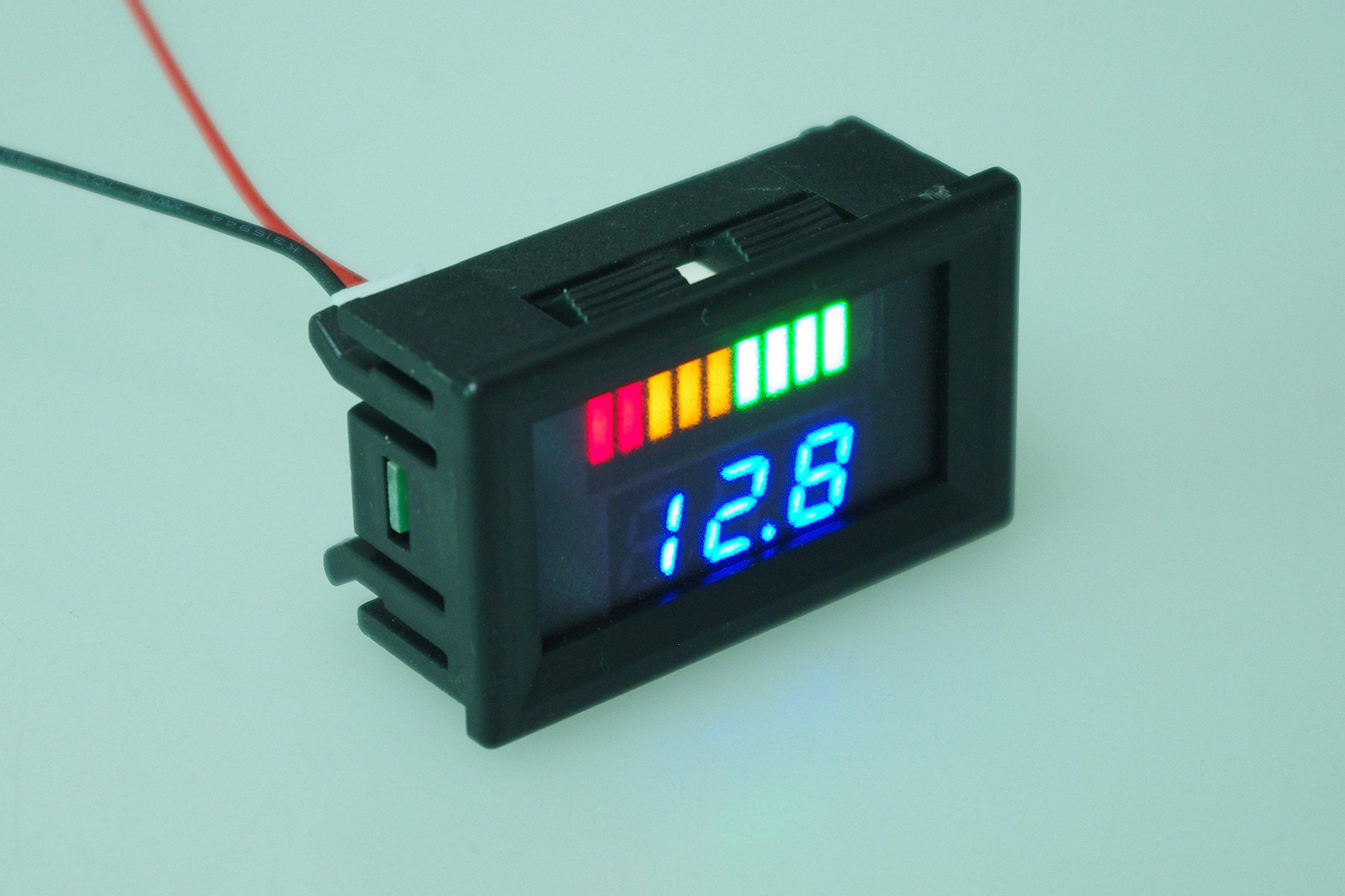 SMAKN® Dual Display 12V Acid Lead Batteries Indicator Battery Capacity LED Tester
