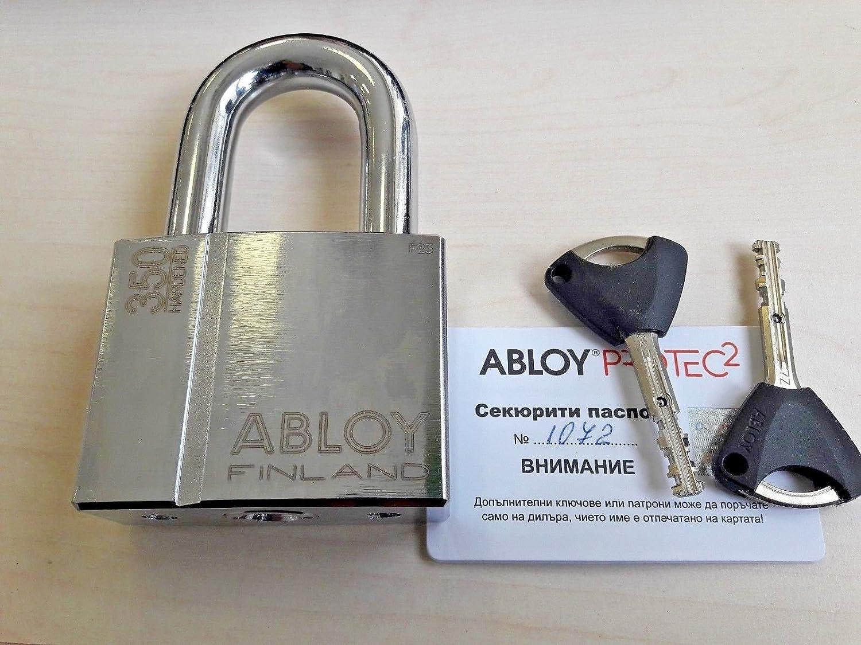 Abloy Vorhängeschloss Pl 350 50 T Protec2 Aus Gehärtetem Stahl Mit 2 Schlüsseln Und Ausweiskarte Baumarkt
