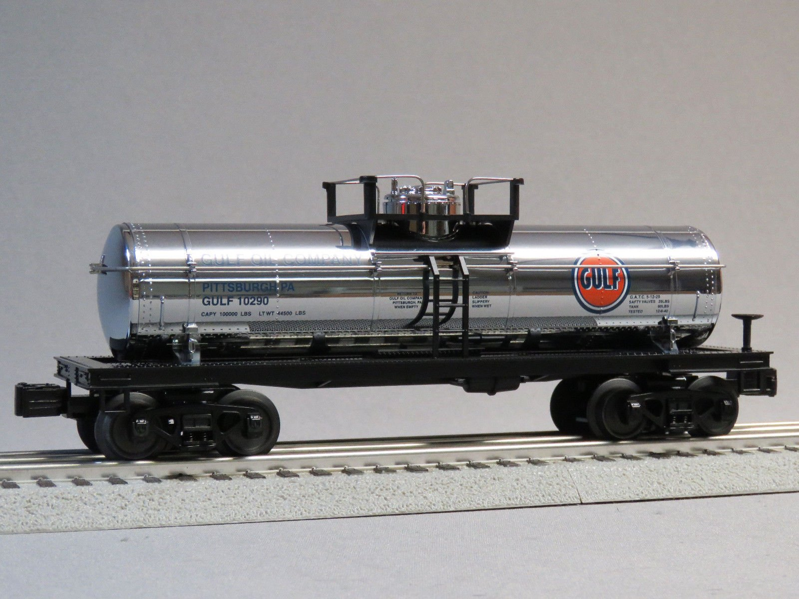 MTH RAIL KING GULF TANK CAR #10290 o gauge