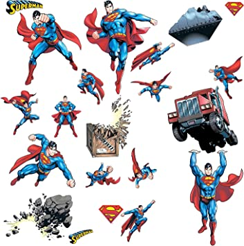 Roommates - Rmk1194scs superman: day of doom tatuajes de pared ...