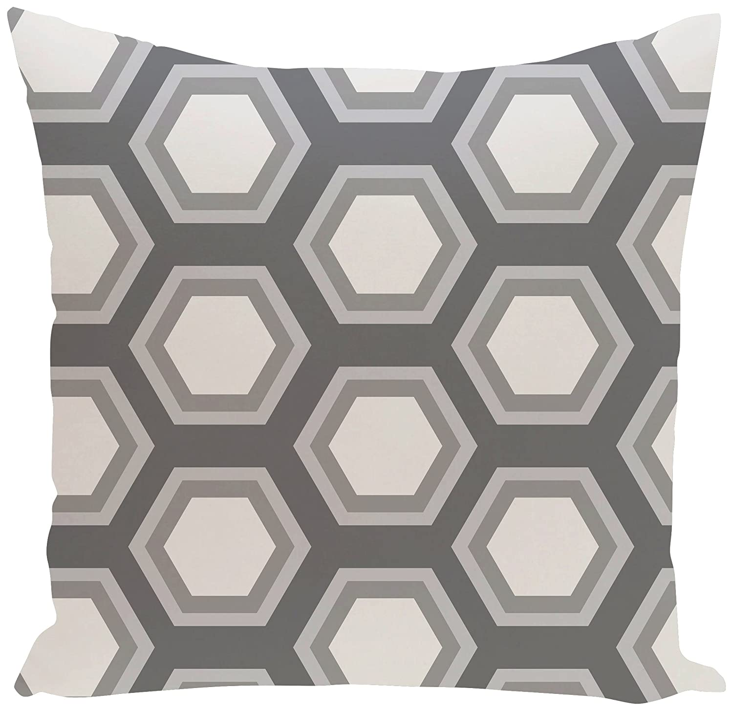 E by design O5PGN121GY3GY4-16 Printed Outdoor Pillow