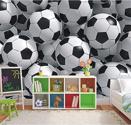 Enjoyable 3D Footballs Wallpaper Mural Boys Bedroom Soccer Photo Wall Mural 2Xl Download Free Architecture Designs Grimeyleaguecom