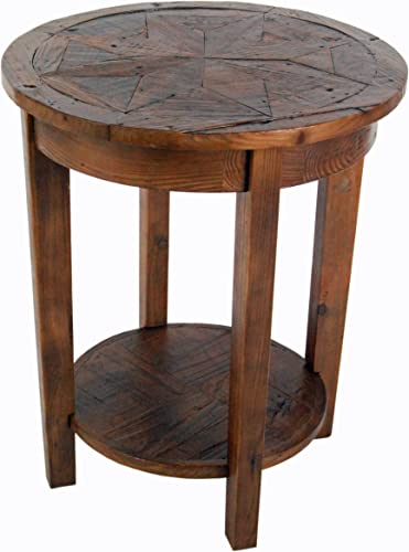 Renew Reclaimed Wood 20″ Round End Table