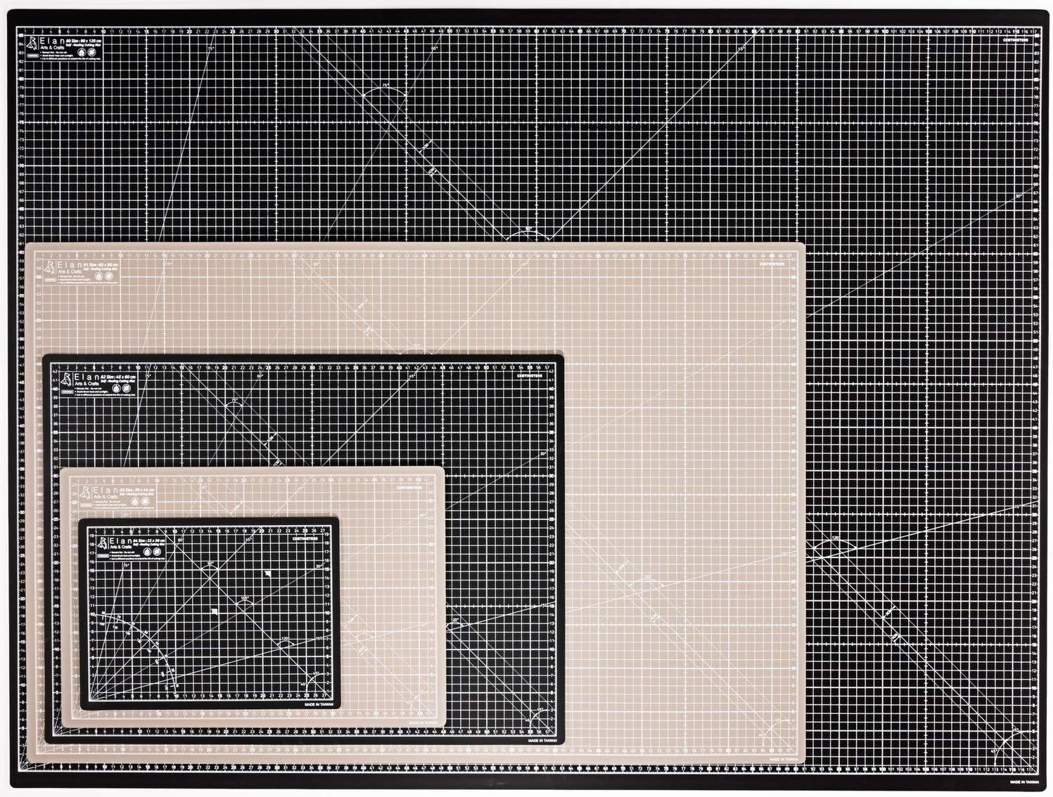Dressmaking Accessories for Sewing Self-Healing Cutting Board Craft Self Healing Cutting Mat Quilting Elan Cutting Mat A0 A1 A2 A3 A4 Black and Brown Art Mat A4 5-Ply Craft Mat and Crafting 120cm 90cm 60cm 44cm 30cm