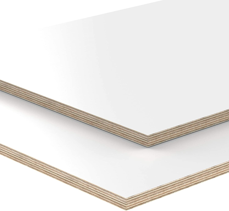 15mm Multiplex Zuschnitt wei/ß melaminbeschichtet L/änge bis 200cm Multiplexplatten Zuschnitte Auswahl 30x80 cm
