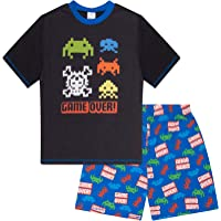 The Pyjama Factory Pijama corto para niños Game Over Space Invader