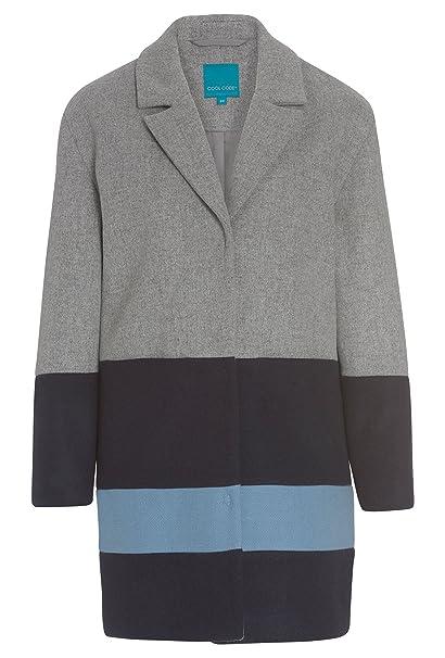 COOL CODE - Abrigo - para mujer gris y azul 42 : Amazon.es: Ropa y accesorios
