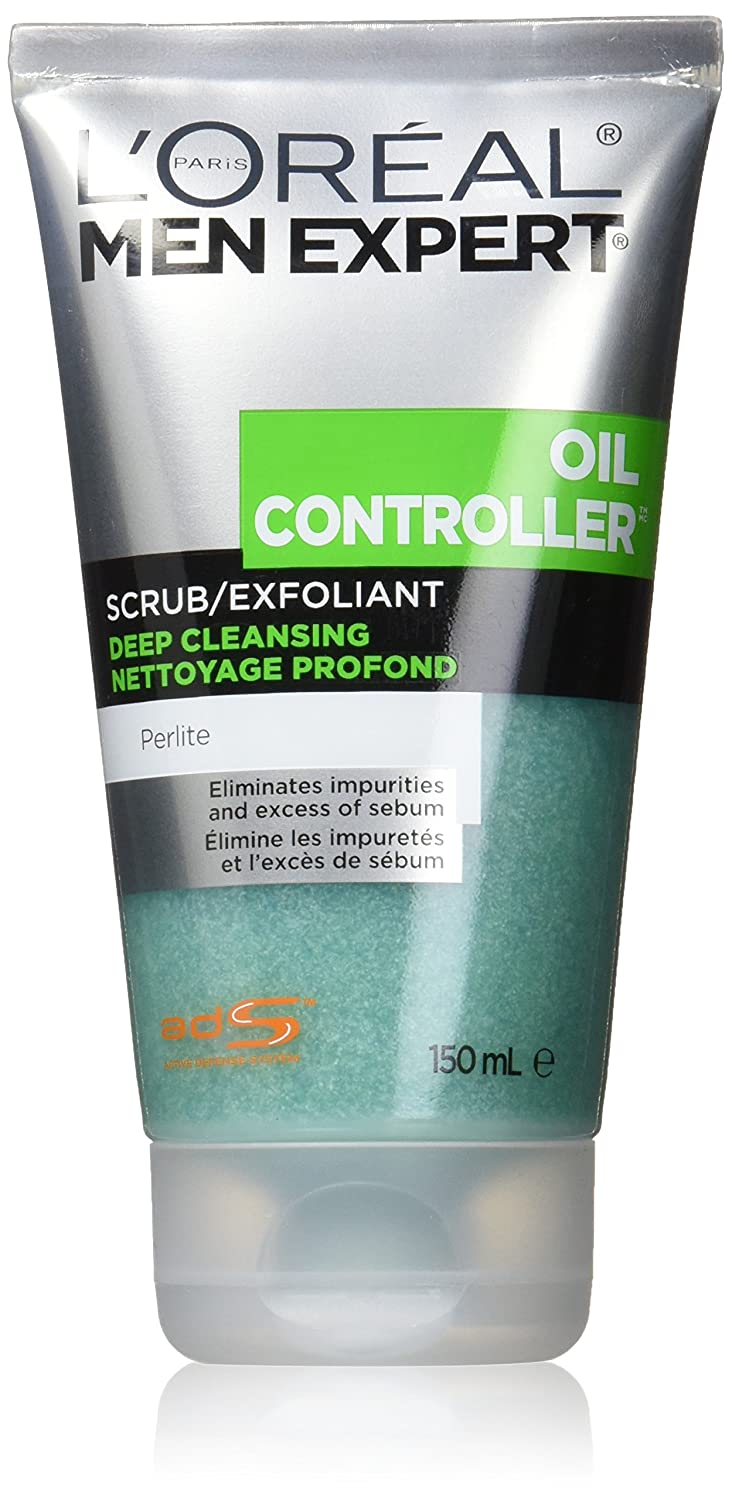 L'Oreal Paris Men Expert Oil Controller, Deep Cleansing Face Scrub With Perlite, For Oily Skin, 150, ML L'Oreal Paris