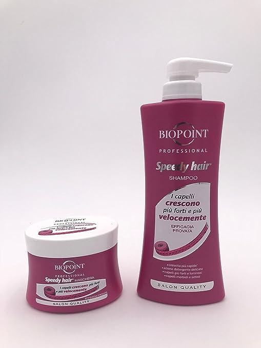 Kit pelo Biopoint Speedy Hair Shampoo 400 ml + Máscara 250 ml Crecimiento Rápido