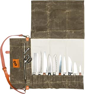Amazon.com: ARCOS 17-Piece Knife Roll Bag: Knife Storage ...