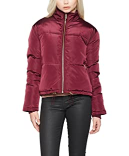 New Look Damen Jacken Chapel Short Padded Puffer, Rot (Dark Burgundy), 38 EU (10 UK)