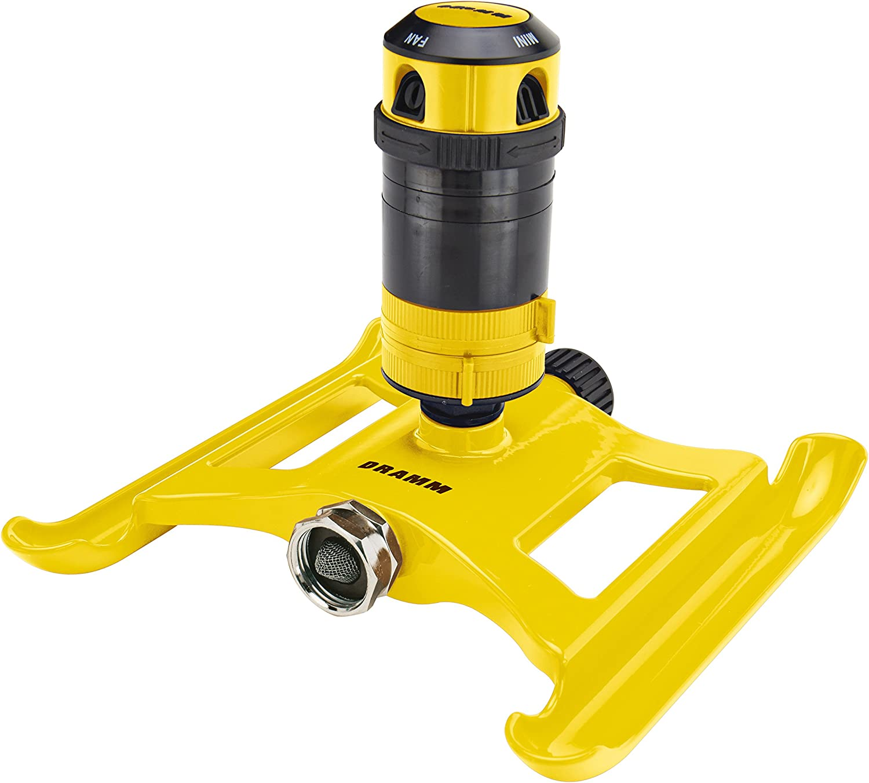 Dramm 15093 Gear Drive Sprinkler, Yellow