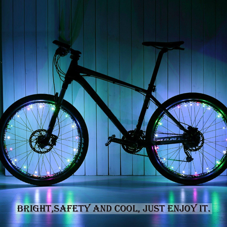Tagvo Bicicleta de la luz de la rueda, impermeable USB recargable LED Ciclismo bicicleta ruedas de luz radios para los radios de bicicleta/llanta/decoración ...