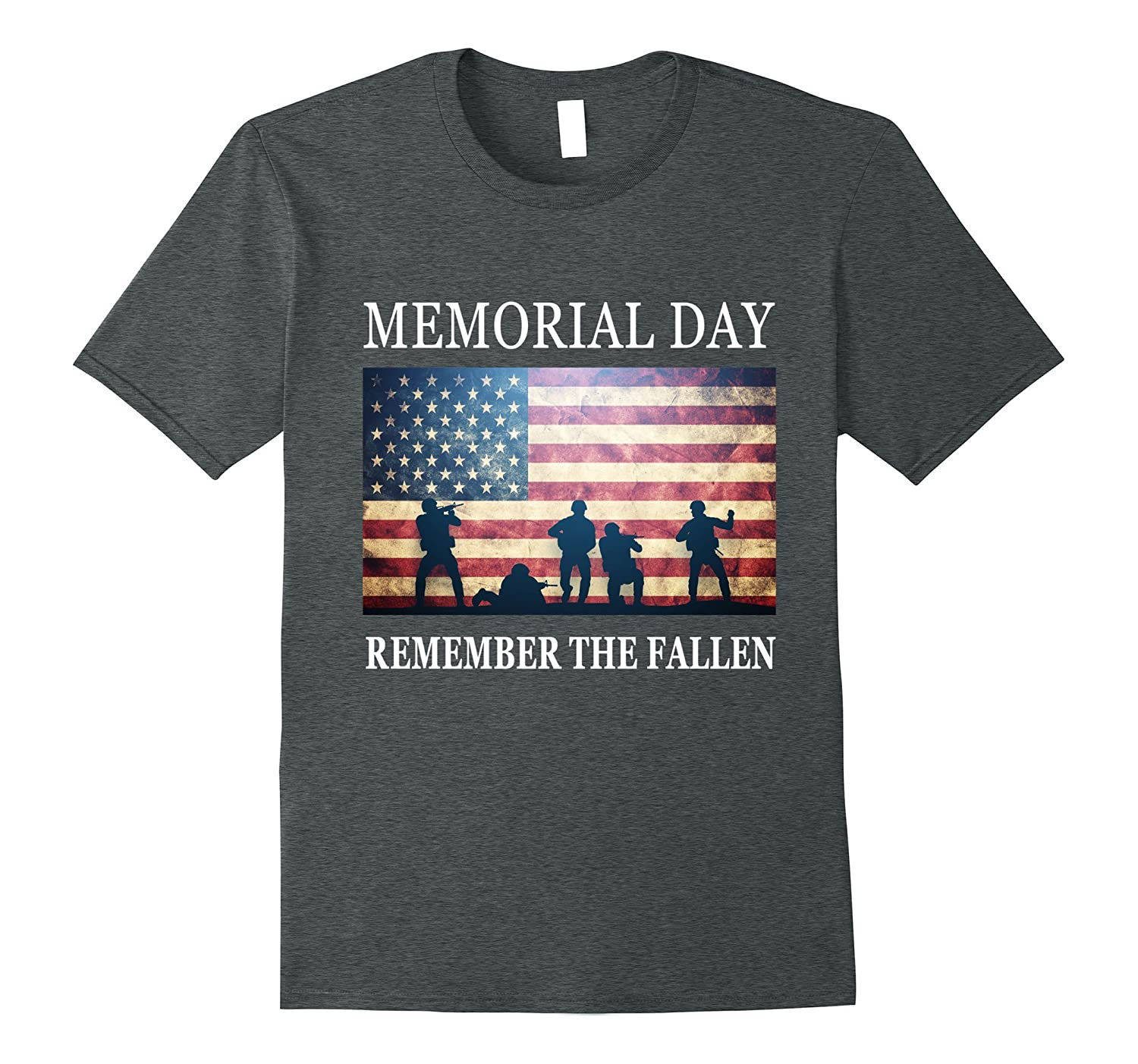 Remember The Fallen - Soldiers Military Memorial Day T-Shirt-Art