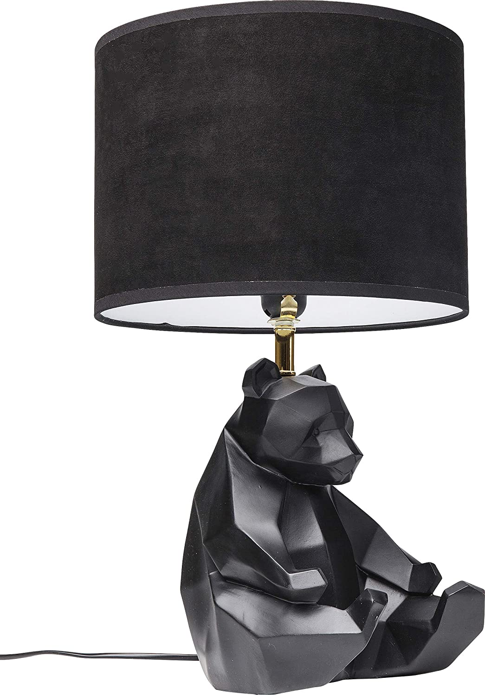 Kare Design Tischleuchte Panda Schwarze Tischlampe Im Tier Design Schwarzer Panda Als Nachttischlampe Runder Lampenschirm H B T 51 7 30 5 30 5 Amazon De Beleuchtung